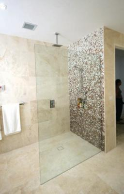 Frameless Panel shower screen
