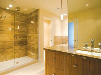 Frameless showerscreens front only