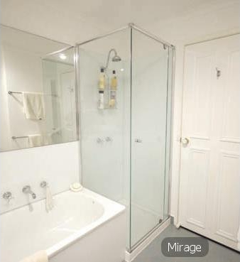 Semi frameless shower screens Gold Coast